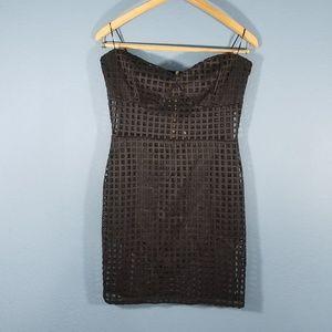 💎3 for 20💎blanc strapless sheer dress